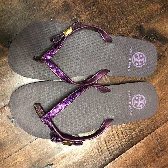 Tory Burch Purple Flip Flops